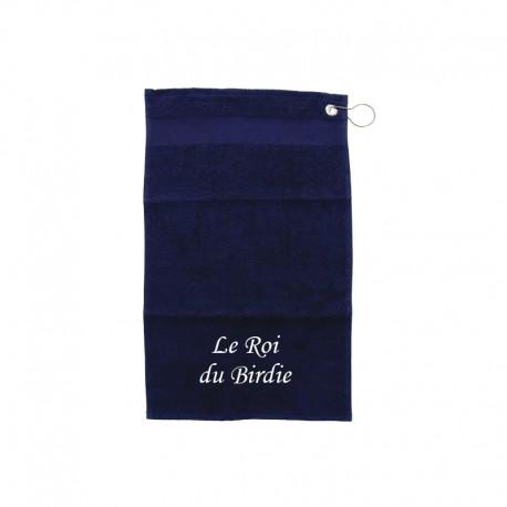 Serviette de golfe - Roi et Reine Bleu marine