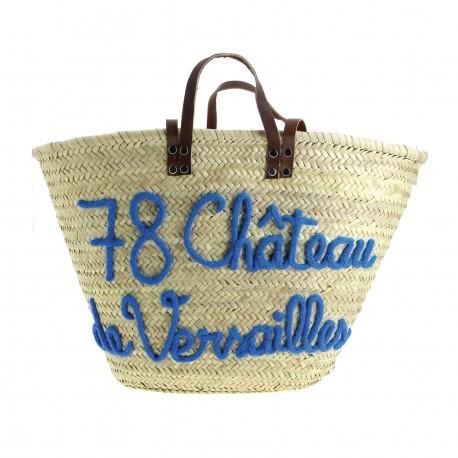 Panier personnalisé Versailles en bleu dur