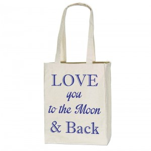 Tote bag Love to the Moon