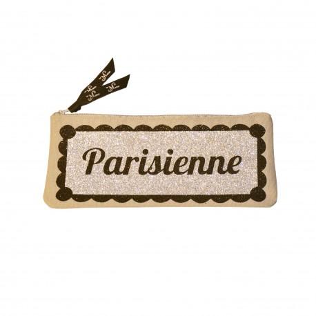 Trousse paillette Noir