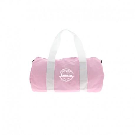 Mini sac polochon US rose et blanc
