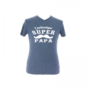 "T-shirt ""L'Authentique Super Papa"""