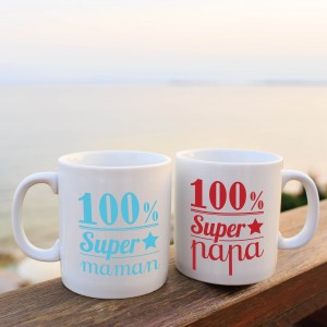 Mug super papa - maman