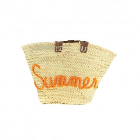 Panier personnalisé summer en orange