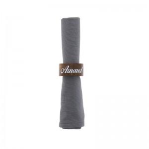 Rond de serviette en bois personnalisé