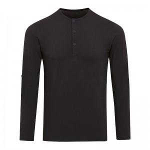 Tee-shirt noir homme manches longues personnalisable