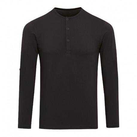 T-shirt noir homme manches longues personnalisable