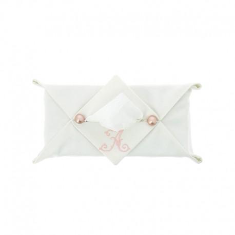 Boîte à mouchoirs avec perles