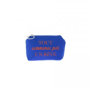 Trousse Betty - Bleu roi - Message