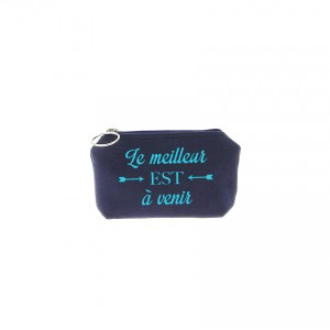 Trousse Betty - Bleu marine - Message