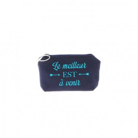 Trousse Betty - Bleu marine - Message
