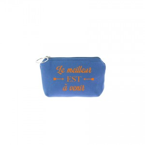 Trousse Betty - Bleu jean - Message