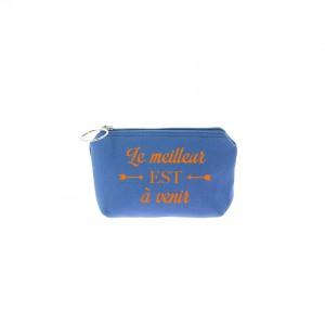 Trousse Betty - Bleu jean - Message
