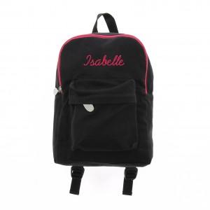Mini sac à dos noir enfant personnalisé