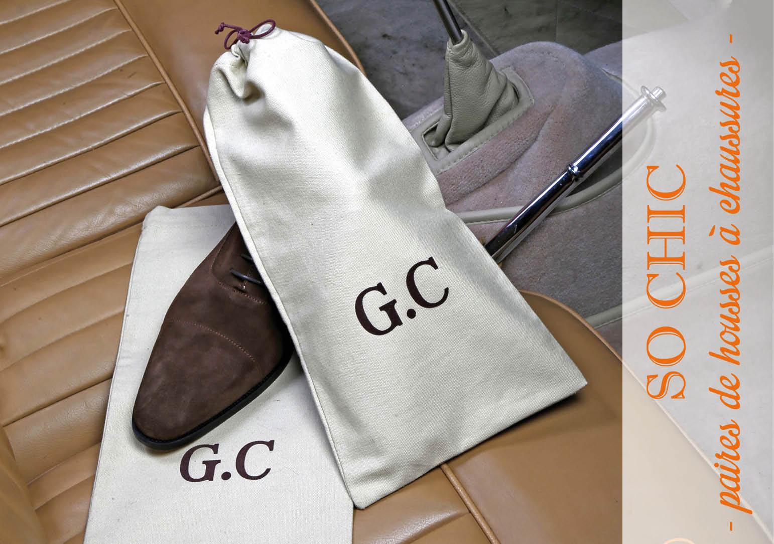 housses à chaussures beige personnalisées en marronby Matao