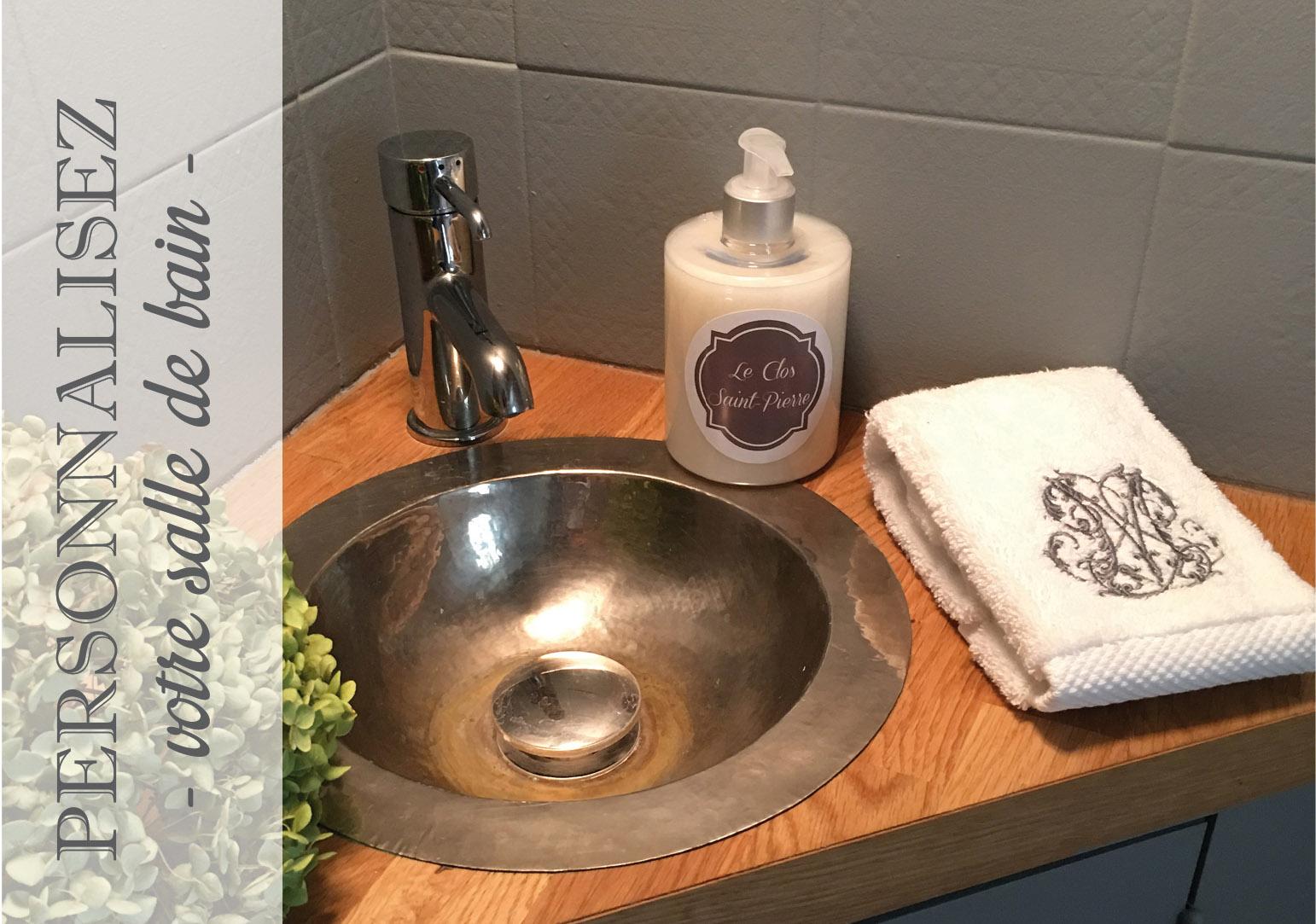 accessoires personnalisés pour salle de bain